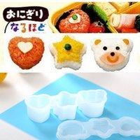Wholesale 3pcs set DIY Kitchen Tool Stylish Shape Rice Ball Maker Sushi Mold Rice Ball Mould Cooking Tools