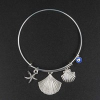 ancient elements - New Product Shell Stars Circle Restore Ancient Ways Concise Alloy Multivariate Element Fashion Bracelet H belt bangle alex and ani