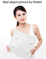 Wholesale White Mini Smart Scales Household Premium Support Bluetooth Above APP Fat Percentage Digital Body Fat BMI Weighing Scale