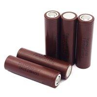 Wholesale 18650 mAh LGHG2 battery LGHG2 li ion rechargeable battery HG2 mAh High quality cell for box mod