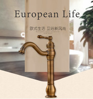 antique bronze sink - Bathroom Faucet Antique bronze finish Brass Basin Sink Faucet with ceramic Single Handle water taps
