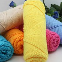 baby milk yarn - 1pc Soft Milk Cotton Yarn Hand Knitting Woolen Yarn DIY Weave Thread For Baby Knitted Crochet Yarn Scarves Clothes XHH8145