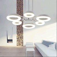 bars group - Group lights design Iron Aluminum Peddant LED Lamp Chandelier Lighting Black White Color for dinning room bar beatiful ceiling lamp led