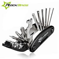 Wholesale ROCKBROS in Multifunction Bicycle Repair Tools Kit Hex Spoke Cycling Screwdriver Tools MTB Mountain Bike Repair Tool