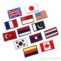 Wholesale 2015 Countries flags American flag Velcro patch armband embroidered cloth standard customized Britain and Germany design