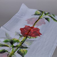 america rose - Hot Sell The new Europe and America fashion Rose Flowers Georgette Scarf cm color