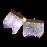 amethyst nugget beads - Natural Rough Quartz Purple Amethyst Nugget Beads Pendants Square Geode Crystal Druzy Druse Cluster Healing Specimen Natural Stones Minerals