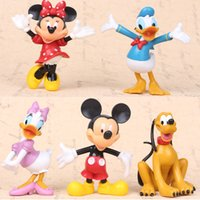 big figurine - Mickey Mouse Figure Minnie Mouse Donald Duck Figurine Toy Collectible