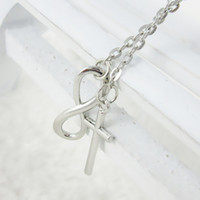 Wholesale Selling Infinity Necklace - Hot Selling Europe And United State Simplicite Pendant Necklace Jewerly 8 Style Cross Pendant Infinity Short Necklace Free Shipping