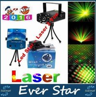 Wholesale Mini Voice Automatic Play Laser Lights Lighting Projector Disco DJ Stage Xmas Party Show Club Star Bar Tripod EU AU US UK Plug