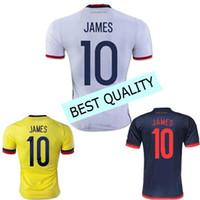 Wholesale Best quality James Rodriguez Colombia jersey shirts camisa Nian Radamel Falcao Cuadrado Copa America soccer jerseys shirts w
