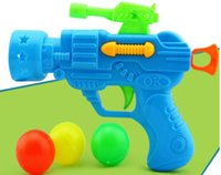 baby mail - 2016 Table Tennis gun strange new creative hot stretch baby child fun plastic pistol emission gun CMe mail Po