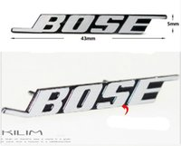 Wholesale 4pcs Bose Creative sticker Hi Fi Speaker audio Speaker D Aluminum Badge Emblem stereo with sticker