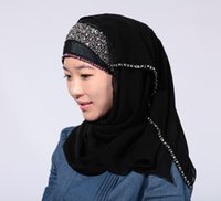 Wholesale Islamic Turban muslim hijab Women s Maxi Scarf Head Wrap cm