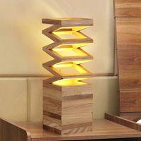ash table - Polygon Table Lamp Modern Art Creative Brief China Ash Wood Desk Lamp Office Bar Bedside Table Lamp Bar Hotel Light Fitting