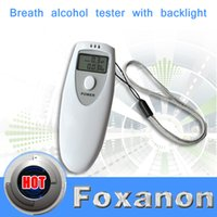 Wholesale tester bottle Foxanon Brand Portable Breath Alcohol Analyzer LCD Digital Alcohol Breathalyzer Breath Tester Analyzer tester cable