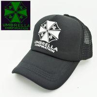baseball cap umbrella - New Japanese Capcom Game Fans Resident Evil Umbrella Logo mesh trucker baseball caps hats adjustable for men women summer cool