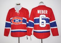 Wholesale 2016 Latest Shea Weber Ice Hockey Jerseys Montreal Canadiens Jersey Team Color Red All Stitched Pure Cotton Breathable