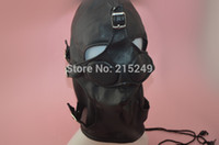 Ball Gags & Bite Gags sex mask - BDSM Soft Leather Bondage Hood Mask Eyepatch Gagged Headgear Fetish Erotic Porno Sex Products Adult Games Toys For Women And Men