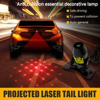 automobile tail lights - LED car laser fog light rear tail warning lamp external automobiles car styling automotive safe driving parking waterproof V V Rear fog