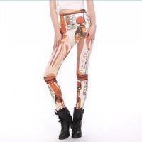 sexy jeans for women - Pharaoh Print Leggings Jeans Cheap Ripped Denim Spandex Graffiti Fitness Legging for Women Pants Sexy Leggings