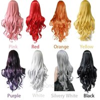 Wholesale Ladies Women Long Curly Big Wavy Hair Heat Resistant Perma long Cosplay Wig Moonar