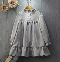 Wholesale 2016 New Arrival Fashion Autumn Kids Girl Colors Pullover Long Sleeve Round Neck Pretty Top Shirt Sweaters Kids Clothing R0049