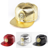 Wholesale Summer Hiphop d Metal Leather Cap Black Gold Last Kings Snapback Caps Mens Sports Hat Lady s Adjustable Strapback Hats G