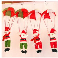 Wholesale Christmas Decorations Hanging Christmas Decorations Parachute Santa Claus Snowman Ornaments For Christmas Indoor Decorations Xmas Gift