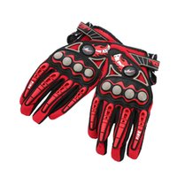 Wholesale Professional Pro biker Full Finger Motorcycle Cycling Racing Riding Protective Gloves M L XL Moto Gloves Colors Optional