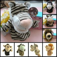 Wholesale 25cm Animal Hand Puppets Doll Toys Kids Finger Plush Toys Baby Children Stuffed Animals Hand Glove Puppet Finger PlushToy