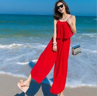 bali pants - 2016 chiffon dress bohemian beach pants seaside resort of Bali drain back piece pants
