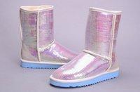 australia western - 2016 Australia Classic Short Sparkles Snow Boots lady women Handmade Glitter Sequins decoration Plush Winter women s boots