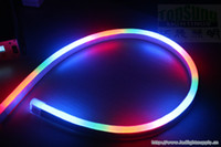 Wholesale 50M V RGB Chasing LED Neon SMD5050 x26mm Neon Flex Tube IP67 Waterproof Outdoor Lighting Shop Sign with Remote Controller