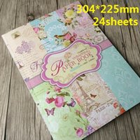Wholesale 304 mm Sheets pack Vintage Paris Garden series Manual gift wrapping paper book package paper DIY paper Christmas supplies