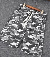 Wholesale Men s Camouflage Shorts Cotton Drawstring Casual Shorts M Men s Beach Pants Summer Loose Two Colors M XL Code
