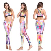 Wholesale 2016 Fashion yoga suit Spandex vest female yoga bra fitness wear yoga pants Jogging Wear leggings