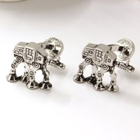 armored movie - Star Wars All Terrain Armored Transport Model Silver Cuff Links For Men And Women Of The Present Movie Jewelry