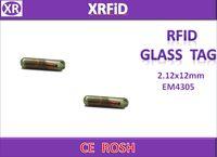 Wholesale 2 x12mm EM4305 rfid microchip RFID tag for Dog Cat khz chip tag Free Ship
