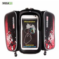 Wholesale Bicycle Frame Front Head Top Tube Waterproof Bike Bag Double IPouch Cycling For in Cell Phone Bike Accessories