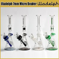 Wholesale Cheap Oil Burner Pipes - 7mm bongs Illadelph Concentrate water Pipes dab rigs Two Function beaker bong oil rig glass bubbler pipe heady colored cheap oil burner