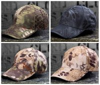 military caps hats - Wild Cotton Tactical Baseball Cap Camouflage Adjustable Military Special Forces Cap For Men women Sun Hat Outdoors wargames Cap