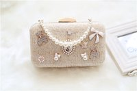 Wholesale New Fashion Bling Diamond Evening Clutch Women Evening Bags Champagne Handbags With Both Chians Femal Messenger Bags