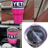 Wholesale 30 oz Pink Rambler Tumbler Tumblerful Travel Mug Yeti Coolers Double Walled Insulation Mug Yeti Lids
