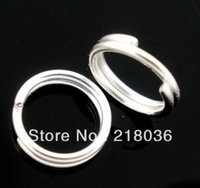 Wholesale Silver Plated Double Loops Open Jump Rings Connectors DIY Making Jewelry mm M2141