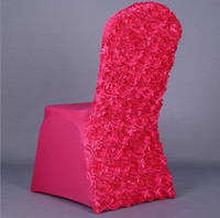 Wholesale 2016 New Wedding Lycra Spandex Chair Cover Back With Satin Rosette Fabric banquet Chair Cover Mixed colors