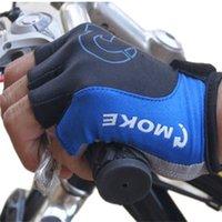 anti slip glove - Unisex Cycling Gloves Sports Half Finger Anti Slip Gel Pad Motorcycle MTB Road Bike Gloves S XL Colors