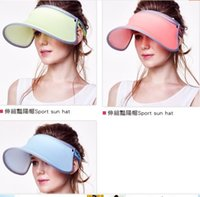 Wholesale Fashion sunshade caps newest Summer girl s sun Hats colorful casual visors fFactory sell direct ree shipping