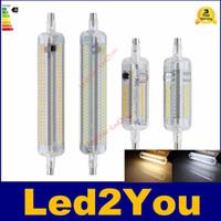 Led R7S lumières ampoule 10W 20W 78mm 118mm SMD3014 halogène inondation remplacement de la lampe R7s AC100-240V 108Leds 228Leds silicone 360 degrés