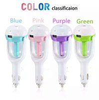 air spraying - USB car charger function Car Plug Air Humidifier Purifier Vehicular Aromatherapy Ultrasonic Humidifiers Purifiers Air Cleaning Cooling